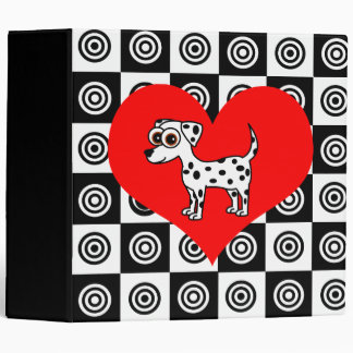 I Heart Dogs - Dalmatian Black ,Red, White Binder