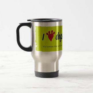 I Heart Dogs 15 Oz Stainless Steel Travel Mug