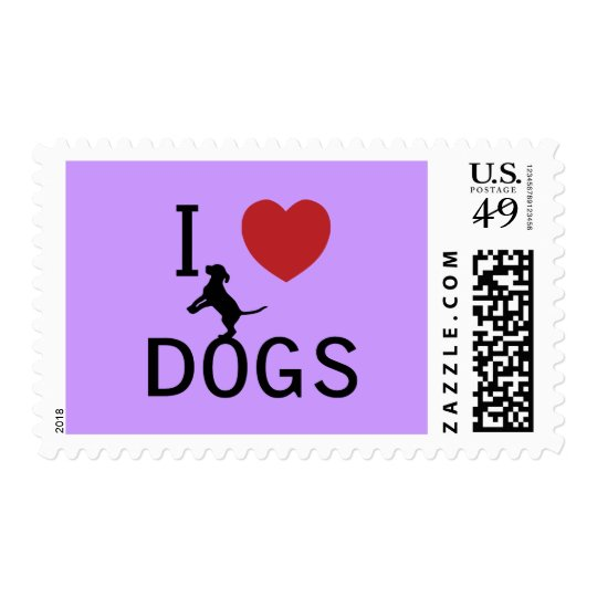 i heart dogs postage