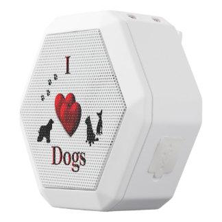 I Heart Dogs White Bluetooth Speaker