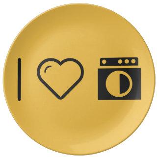 I Heart Doing Laundrys Porcelain Plates