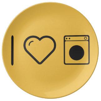 I Heart Doing Laundrys Porcelain Plate