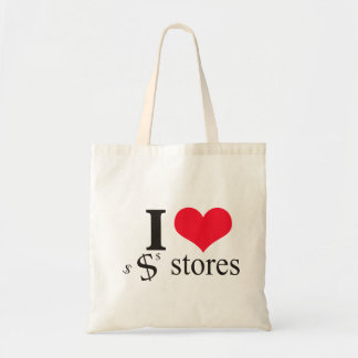 I HEART DOLLAR STORES TOTE BAGS