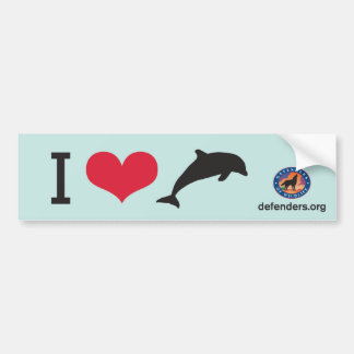 I Heart Dolphins Bumper Stickers