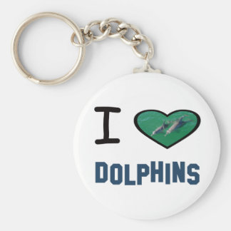 I heart Dolphins Key Chains