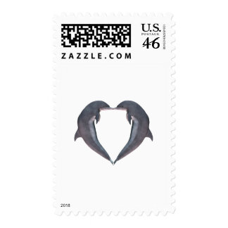 I (heart) Dolphins Postage Stamp
