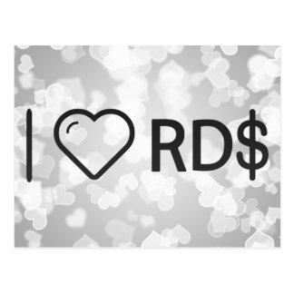 I Heart Dominican Currencies Postcard