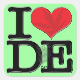 I (heart) DopE Square Sticker