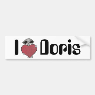 I Heart Doris Alien Bumper Sticker