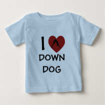 I Heart Down Dog - Baby Yoga Clothes Baby T-Shirt