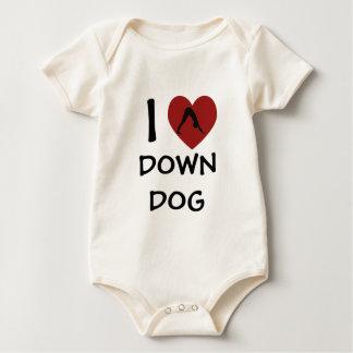 I Heart Down Dog - Baby Yoga Clothes (organic) Baby Bodysuit