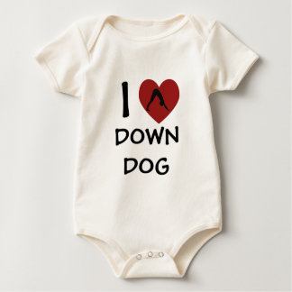 I Heart Down Dog - Baby Yoga Clothes (organic) Baby Creeper