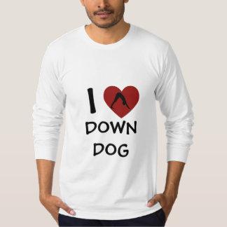 I Heart Down Dog - Long-Sleeve Yoga Shirt (Fitted)