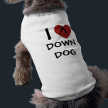 """I Heart Down Dog - Yoga Clothing for Dogs<br><div class=""""desc"""">Dress up your pet with cool yoga clothing --- Find more yoga clothing and gifts at Downdog Yoga Store</div>"""