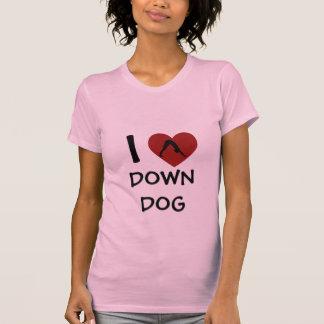 I Heart Down Dog - Yoga T-Shirt for Women