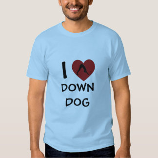 I Heart Down Dog - Yoga T-Shirts for Men