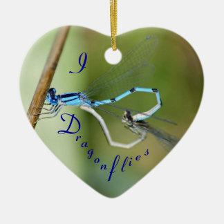 I Heart Dragonflies Ornament