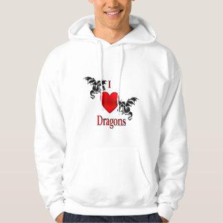 I Heart Dragons Hoodie
