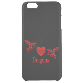 I Heart Dragons Uncommon Clearly™ Deflector iPhone 6 Plus Case