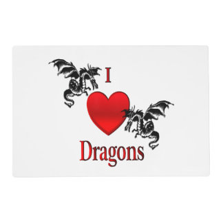 I Heart Dragons Placemat