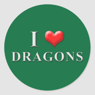 I Heart Dragons Stickers 002
