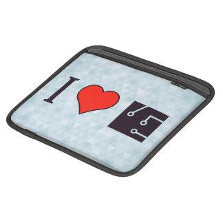 I Heart Drawing Schematics iPad Sleeves