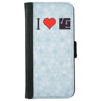 I Heart Drawing Schematics Wallet Phone Case For iPhone 6/6s