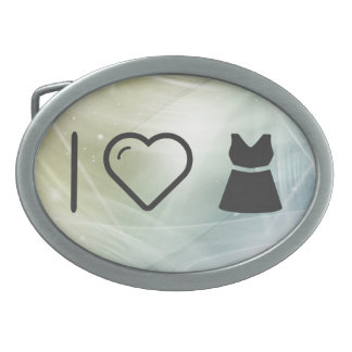 I Heart Dress Wides Oval Belt Buckle