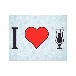 I Heart Drinking Fizzy Drinks Canvas Print