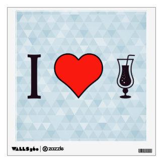I Heart Drinking Fizzy Drinks Wall Sticker