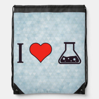 I Heart Drinking From A Flask Drawstring Backpack