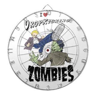 I heart drop kicking zombies dart board