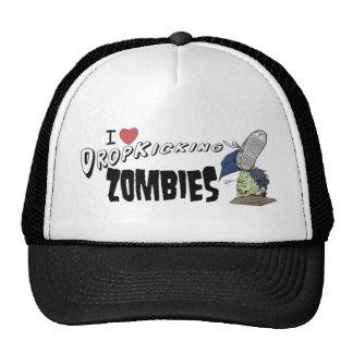 I heart drop kicking zombies trucker hat