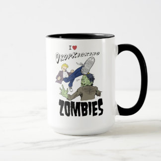 I heart drop kicking zombies mug