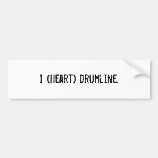 I heart drumline bumper sticker