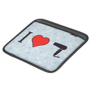 I Heart Drying My Hair iPad Sleeve