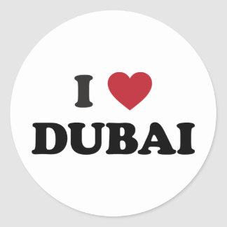 I Heart Dubai United Arab Emirates Classic Round Sticker