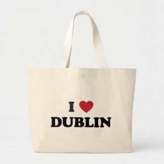 I Heart Dublin Ireland Large Tote Bag