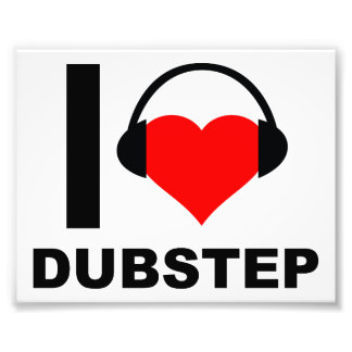 I Heart Dubstep Funny Poster Photograph