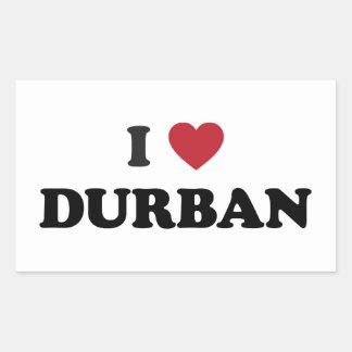 I Heart Durban South Africa Rectangular Sticker
