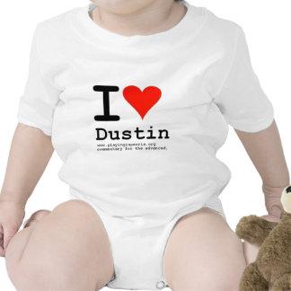 I Heart Dustin Baby Bodysuits