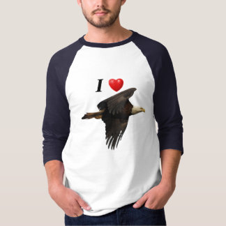 I Heart Eagles Flying Bald Eagle Shirt