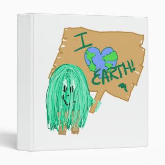 I heart earth vinyl binder