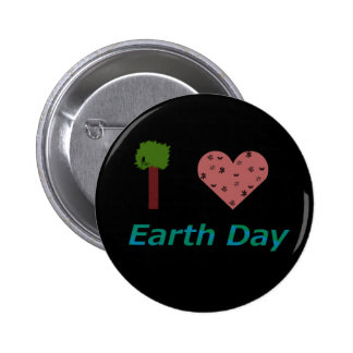 I Heart Earth Day Pinback Button