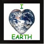 I Heart Earth (I ♥ Earth) Acrylic Cut Outs