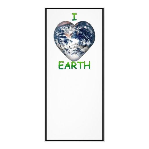 I Heart Earth (I ♥ Earth) Custom Rack Card