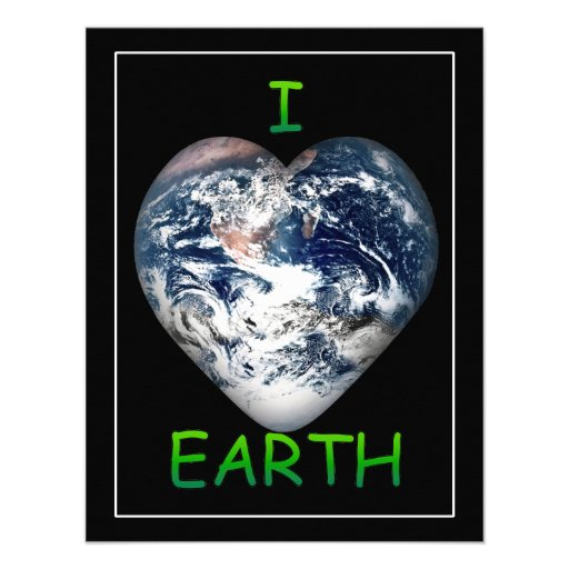 I Heart Earth (I ♥ Earth) Personalized Announcements