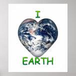 I Heart Earth (I ♥ Earth) Print