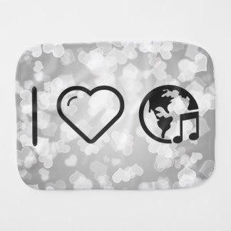I Heart Earth Musics Burp Cloths