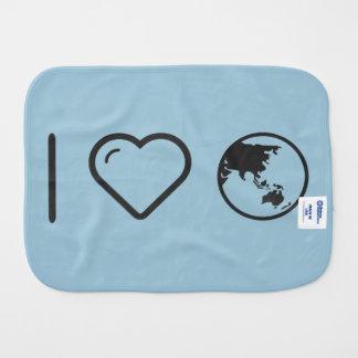 I Heart Earth Powders Baby Burp Cloths